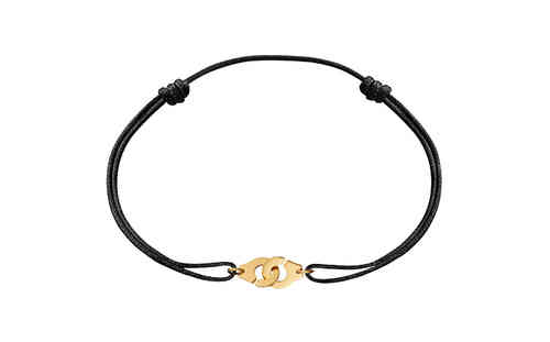Menottes R8 18K Yellow Gold Bracelet On Cord
