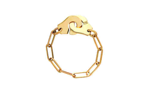 Menottes R7 18K Yellow Gold Chain Ring