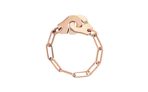 Menottes 18K Rose Gold Chain Ring
