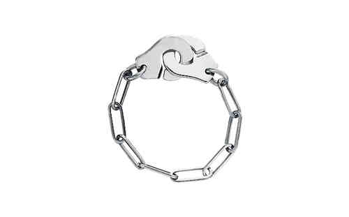 Menottes 18K White Gold Chain Ring