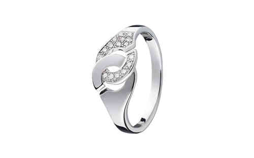 Menottes R8 18K White Gold With 1/2 Diamond