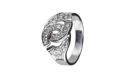 Menottes R12 White Gold Ring With Diamond