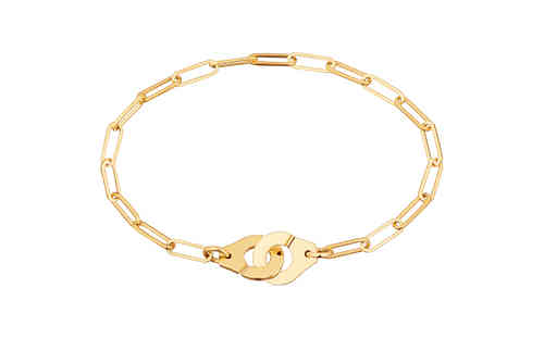 Menottes R10 18K Yellow Gold Bracelet On Chain