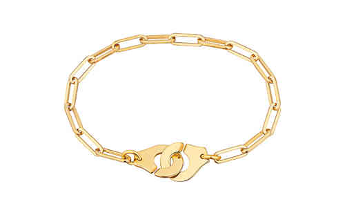 Menottes R12 18K Yellow Gold Bracelet On Chain
