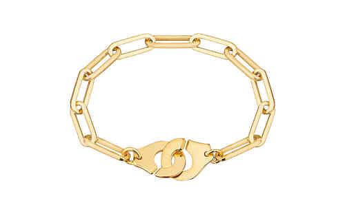 Menottes R15 18K Yellow Gold Bracelet On Chain