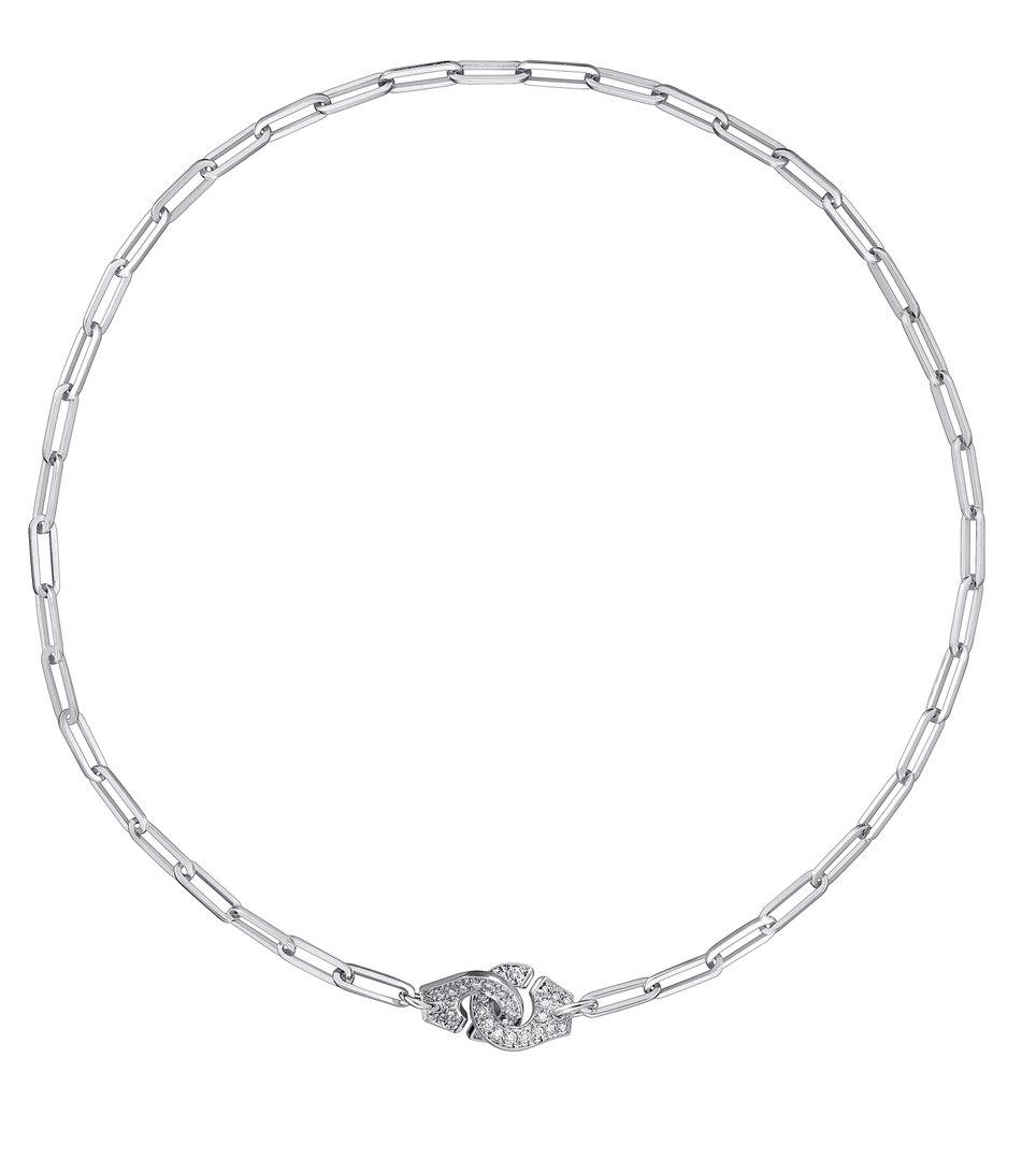cf91377f7df05 Menottes R10 18K White Gold Necklace With Diamonds