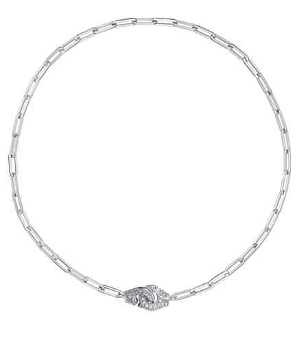 Menottes R10 18K White Gold Necklace With Diamonds