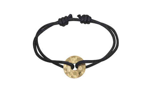 Chinese Pi 16mm 24K Bracelet On Cord