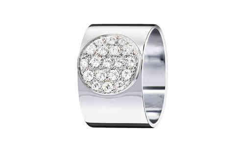 Anthea 12mm 18K White Gold Ring