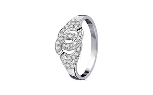 Menottes R8 18K White Gold Ring With Diamond