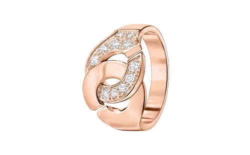 Menottes R12 18K Rose Gold Ring With 1/2 Diamond