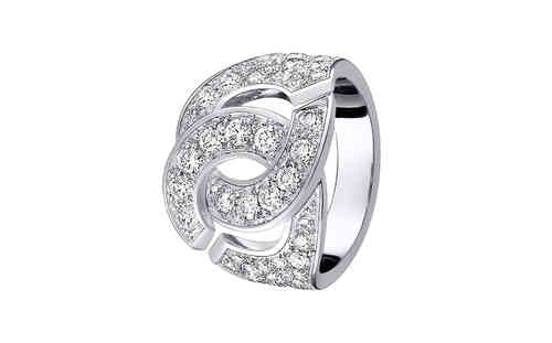Mottes R16 18K White Gold Ring With Diamonds