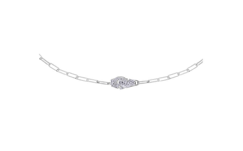 9940e9bd5cbb7 Menottes R8 18K White Gold Necklace With Diamond