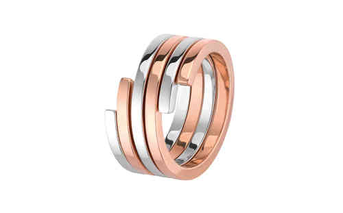 Spirale 18K Rose Gold And Silver